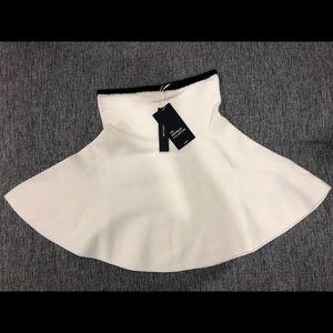Zara White Knit A-Line Skirt